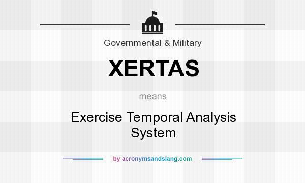 What does XERTAS mean? It stands for Exercise Temporal Analysis System