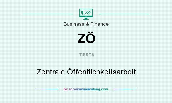 What does ZÖ mean? It stands for Zentrale Öffentlichkeitsarbeit