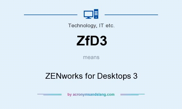 What does ZfD3 mean? It stands for ZENworks for Desktops 3