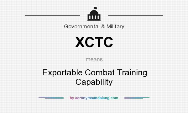 What does XCTC mean? It stands for Exportable Combat Training Capability