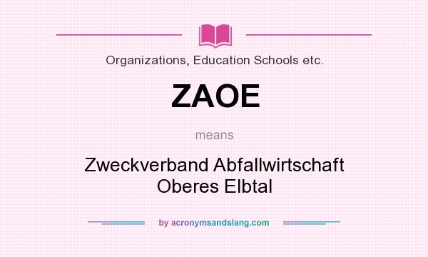 What does ZAOE mean? It stands for Zweckverband Abfallwirtschaft Oberes Elbtal