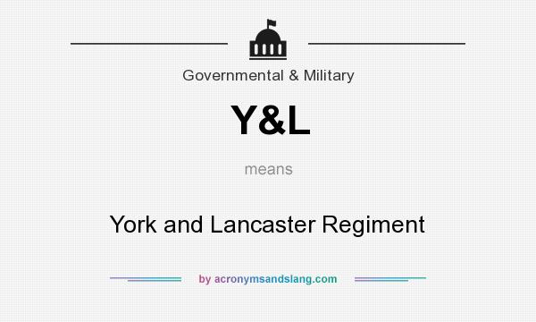What does Y&L mean? It stands for York and Lancaster Regiment