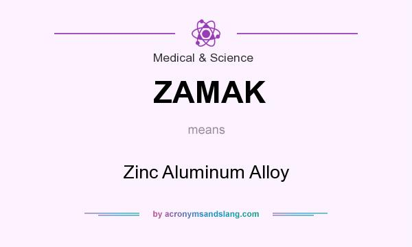 What does ZAMAK mean? It stands for Zinc Aluminum Alloy