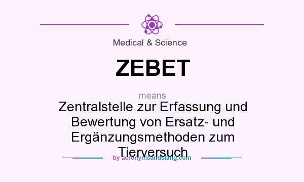 What does ZEBET mean? It stands for Zentralstelle zur Erfassung und Bewertung von Ersatz- und Ergänzungsmethoden zum Tierversuch