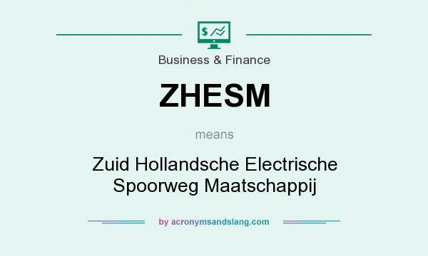 What does ZHESM mean? It stands for Zuid Hollandsche Electrische Spoorweg Maatschappij