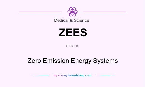 What does ZEES mean? It stands for Zero Emission Energy Systems