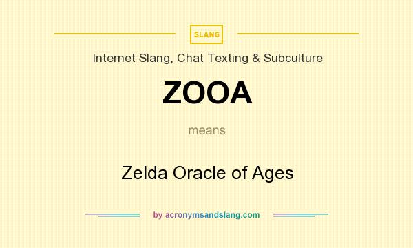 What does ZOOA mean? It stands for Zelda Oracle of Ages
