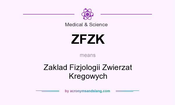 What does ZFZK mean? It stands for Zaklad Fizjologii Zwierzat Kregowych