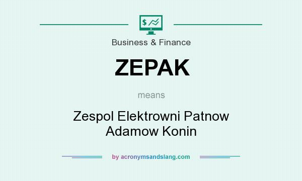 What does ZEPAK mean? It stands for Zespol Elektrowni Patnow Adamow Konin