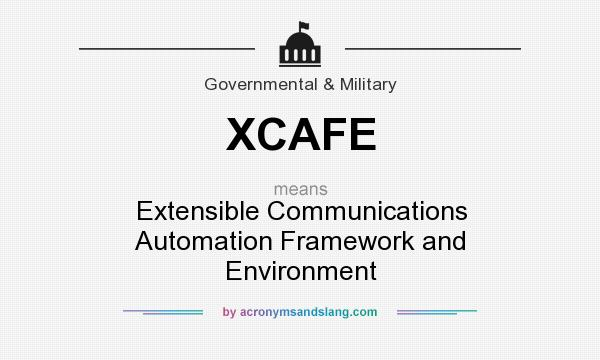 What does XCAFE mean? It stands for Extensible Communications Automation Framework and Environment