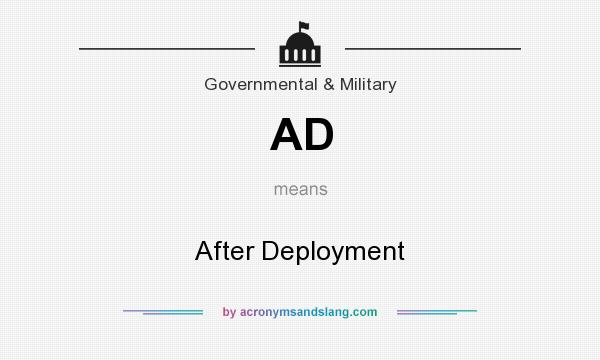 What does AD mean? It stands for After Deployment