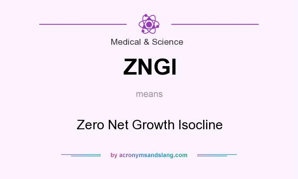 What does ZNGI mean? It stands for Zero Net Growth Isocline