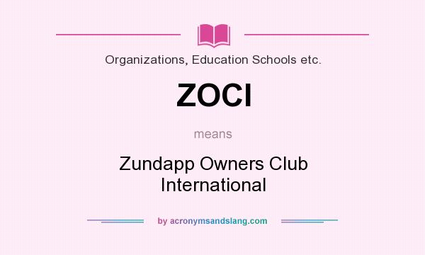 What does ZOCI mean? It stands for Zundapp Owners Club International