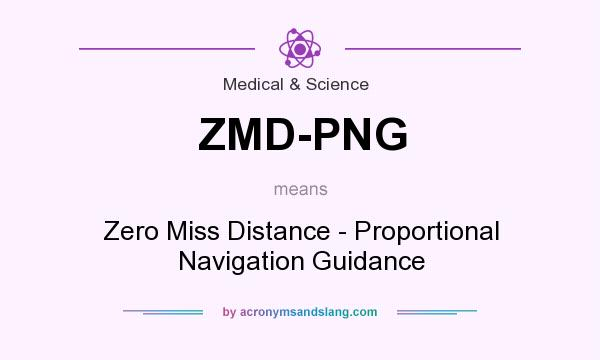 What does ZMD-PNG mean? It stands for Zero Miss Distance - Proportional Navigation Guidance
