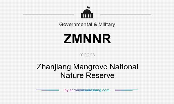 What does ZMNNR mean? It stands for Zhanjiang Mangrove National Nature Reserve