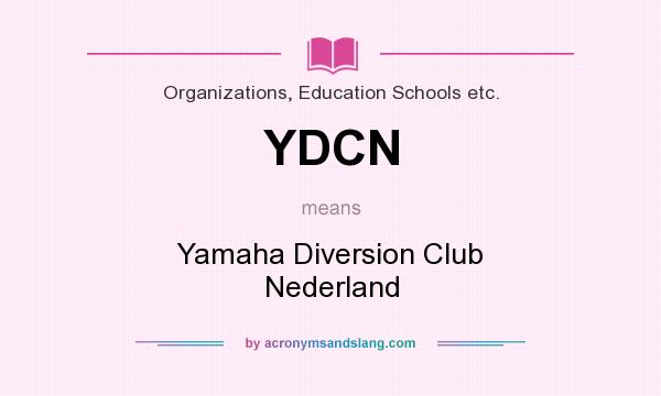 What does YDCN mean? It stands for Yamaha Diversion Club Nederland