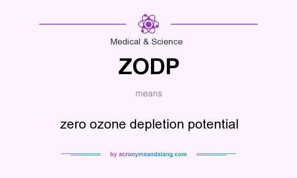 What does ZODP mean? It stands for zero ozone depletion potential