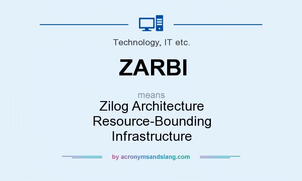 What does ZARBI mean? It stands for Zilog Architecture Resource-Bounding Infrastructure