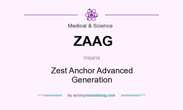What does ZAAG mean? It stands for Zest Anchor Advanced Generation
