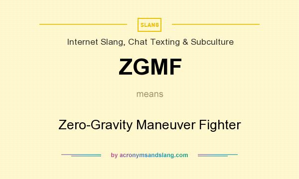 What does ZGMF mean? It stands for Zero-Gravity Maneuver Fighter
