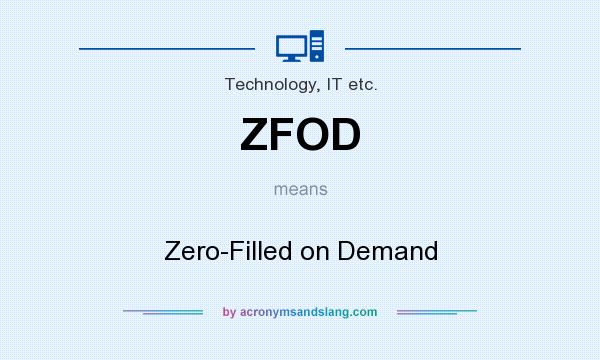 What does ZFOD mean? It stands for Zero-Filled on Demand