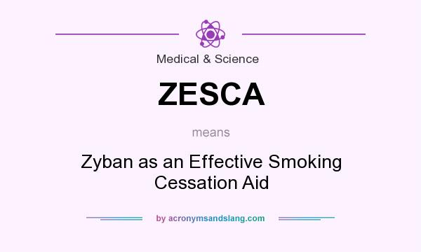 What does ZESCA mean? It stands for Zyban as an Effective Smoking Cessation Aid