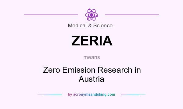 What does ZERIA mean? It stands for Zero Emission Research in Austria