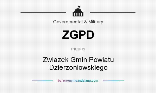 What does ZGPD mean? It stands for Zwiazek Gmin Powiatu Dzierzoniowskiego