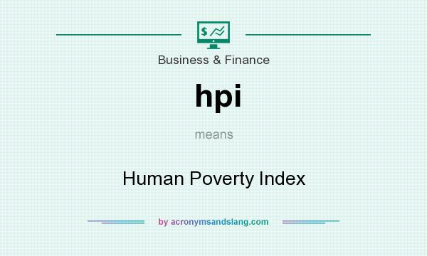 What does hpi mean? It stands for Human Poverty Index