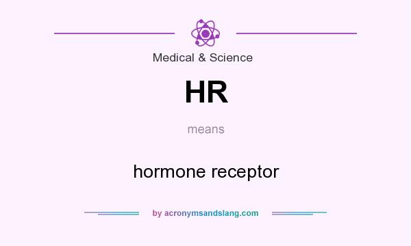 What does HR mean? It stands for hormone receptor