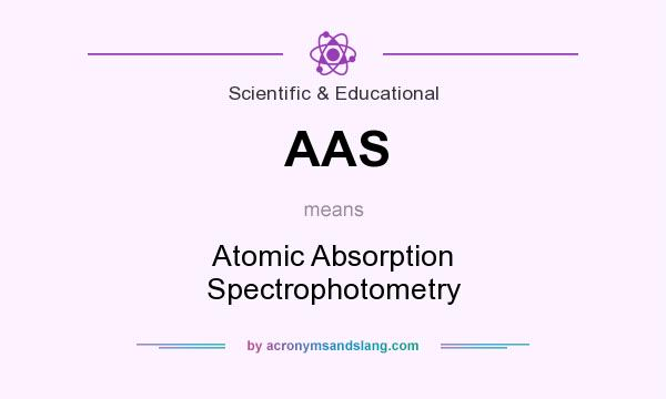 What does AAS mean? It stands for Atomic Absorption Spectrophotometry