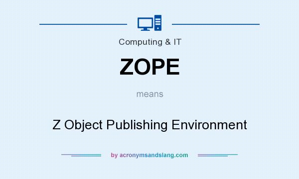 What does ZOPE mean? It stands for Z Object Publishing Environment