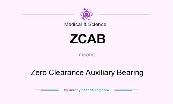 What does ZCAB mean? It stands for Zero Clearance Auxiliary Bearing