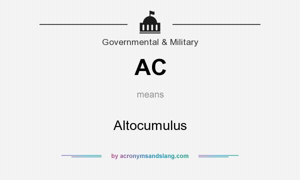 What does AC mean? It stands for Altocumulus
