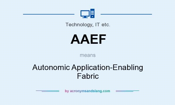 What does AAEF mean? It stands for Autonomic Application-Enabling Fabric