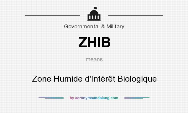 What does ZHIB mean? It stands for Zone Humide d`Intérêt Biologique