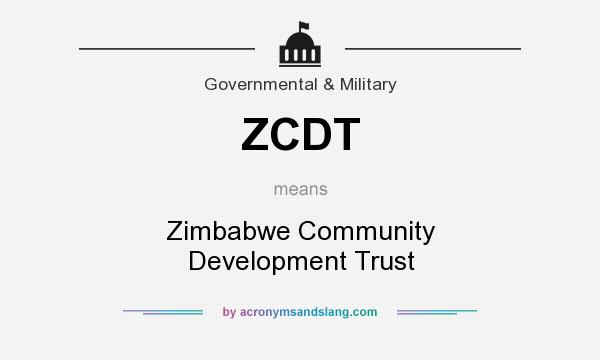 What does ZCDT mean? It stands for Zimbabwe Community Development Trust