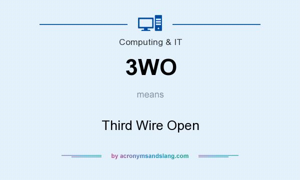 What does 3WO mean? It stands for Third Wire Open