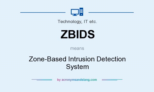 What does ZBIDS mean? It stands for Zone-Based Intrusion Detection System