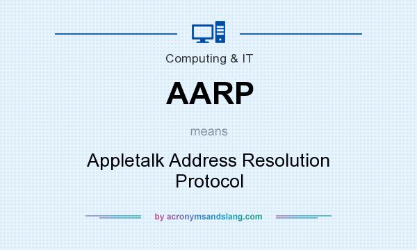 What does AARP mean? It stands for Appletalk Address Resolution Protocol