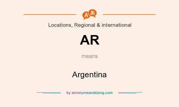 What does AR mean? It stands for Argentina