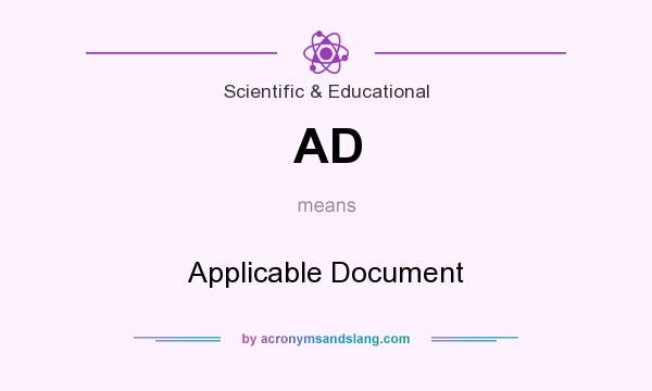 What does AD mean? It stands for Applicable Document