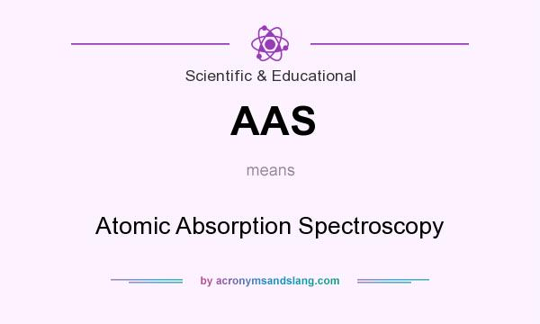 What does AAS mean? It stands for Atomic Absorption Spectroscopy