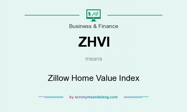 What does ZHVI mean? It stands for Zillow Home Value Index