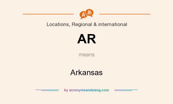 What does AR mean? It stands for Arkansas