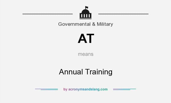 What does AT mean? It stands for Annual Training