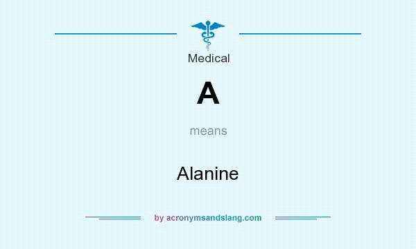 What does A mean? It stands for Alanine