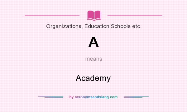 What does A mean? It stands for Academy