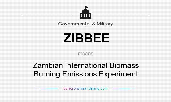 What does ZIBBEE mean? It stands for Zambian International Biomass Burning Emissions Experiment
