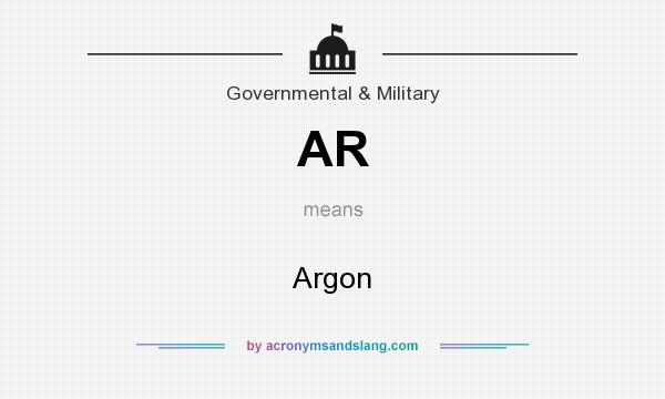 What does AR mean? It stands for Argon